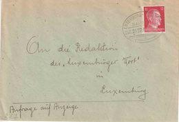 "LUXEMBURG AMBULANT/BAHNPOST  Bf Met PZ (D)  Ovale ""LUXEMBURG - ULFLINGEN / BAHNPOST / ZUG 2132 / 13.7.42/ A"" - Andere"
