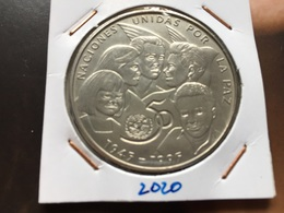 Cuba 1 Peso 1995 50th Anniversary - United Nations Rare Unc - Kuba