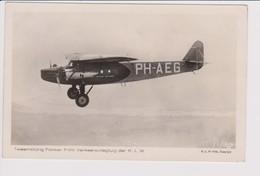 Vintage Rppc KLM K.L.M Royal Dutch Airlines Fokker F-VIII Aircraft - 1919-1938: Entre Guerres