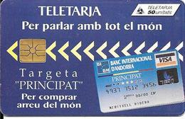CARTE-PUCE-ANDORRE-50U-AND 27-GEMB-01/96-BANQUE MORA-BE- - Andorra