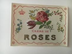 13963 -  Crème De Roses Ancienne étiquette - Etiquettes