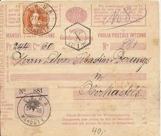 Schweiz, 27.5.1895, Geldanweisung, Chur Oberkastels, Siehe Scans! - Covers & Documents