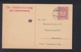 Österreich GSK 1919 Wien Nach München Abfallverwertung - 1918-1945 1. Republik