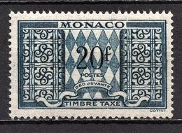 MONACO 1946 / 1957  N° 38  -  TT NEUF** /3 - Postage Due