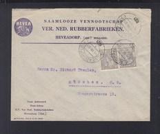 Niederlande Brief 1921 Heveadorp Lochungen Perfins - 1891-1948 (Wilhelmine)