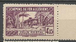 ALGERIE COLIS POSTAUX N° 90 Impression Double Sans Controle Des Recettes NEUF** Luxe SANS CHARNIERE  / MNH - Paquetes Postales