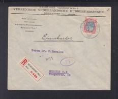 Niederlande Brief 1921 Heveadorp Lochung Perfin - 1891-1948 (Wilhelmine)