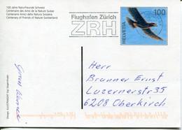Schweiz Ganzsache Gebraucht/used - Fauna Bird - Entiers Postaux