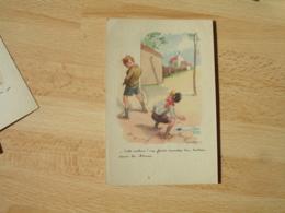 Poulbot Illustrateur Enfant Urinant Joueur Bateau Sale Cochon Va Faire Marcher Ton Bateau Dans La Tienne - Poulbot, F.