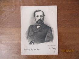 L. PASTEUR STRASBOURG 6 JUILLET 1850 OFFERT PAR Mr DESCHIENS 16cm/12cm - Vieux Papiers