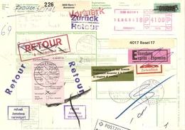 Schweiz, 4.6.1993,Express Fragil, Paketadresse, Bern Frankfurt, SFS 7A, RETOUR, Refusé, , Siehe Scans! - Switzerland