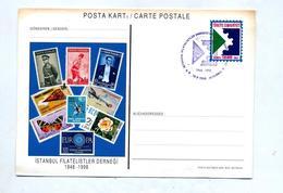 Carte Postale 125.000  Cachet Istanbul  Expo Philatelique Illustré Timbre - 1921-... Republic