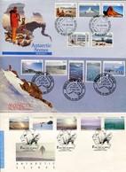 Australia Antarctic Territory Mi# 63-72 + 74-8 FDC - Landscapes Some Fauna - FDC