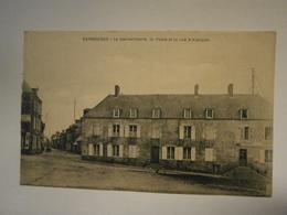 Carrouges La Gendarmerie,la Poste,rue D'Alençon,Orne 61,non écrite Environ1910,très Bel état,pas Commun,envoi En Lettr - Carrouges