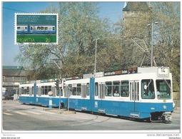202 - 34 - Carte Maximale Suisse 1982 100ème Anniv. Du Tram De Zürich - Strassenbahnen