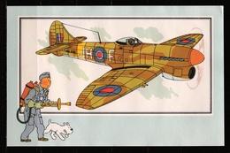 "Tintin : Chromo "" Zien En Weten "" Par Hergé : Aviation Guerre 1939-1945 : N° 56 Editions CASTERMAN. - Trade Cards"