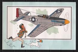 "Tintin : Chromo "" Zien En Weten "" Par Hergé : Aviation Guerre 1939-1945 : N° 58 Editions CASTERMAN. - Trade Cards"