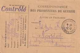 Enveloppe  FM Paris Bureau De Renseignement  Tad Du 21 10 17 . Griffe  Censure CONTROLE Violet - Guerre De 1914-18
