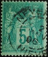 -Sage N°75  Type Ll.(CAD) O.NEVERS 1898. - 1876-1898 Sage (Type II)