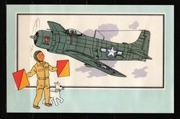 "Tintin : Chromo "" Zien En Weten "" Par Hergé : Aviation Guerre 1939-1945 : N° 60 Editions CASTERMAN. - Trade Cards"