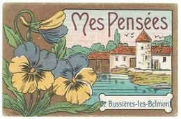 Cpa Fantaisie - Mes Pensées De Bussières Les Belmont ( Fleurs / état ) - France