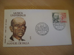 PUERTO REAL Cadiz 1976 Manuel De Falla Cancel Cover SPAIN Music - Muziek