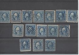 Etats-Unis - Georges WASHINTON, 15 Timbres A Et B, Perçage Publicitaire, Roulettes, Couleur - - Used Stamps