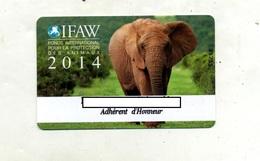 Carte  Membre IFAW Theme Elephant - Andere Sammlungen