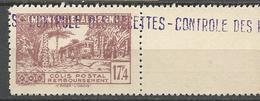 ALGERIE COLIS POSTAUX N° 126 NEUF** Luxe SANS CHARNIERE  / MNH - Paketmarken