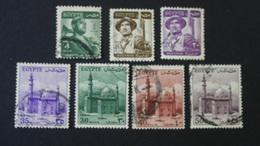 Egypt - 1953/1955 - Mi:EG 398,400,403,404,406,407,486 - Yt:EG 314,315,318,319,320A,321,322 O - Look Scan - Egypt