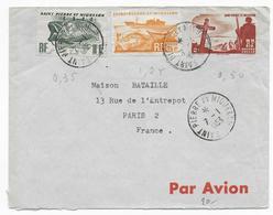 SPM - 1953 - ENVELOPPE Par AVION De SAINT PIERRE ET MIQUELON => PARIS - - St.Pierre & Miquelon