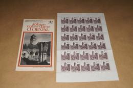 RARE Feuille Complète Abbaye D'Orval,30 Timbres à 2,50 F.+ Livret,1971,strictement Neuf Avec Gomme,collection - Belgium