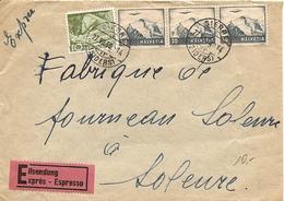 Schweiz,  27.7.1950, Expressbrief, Sierre Soleure, Siehe Scans! - Switzerland