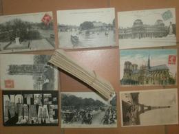 CAB625  Lot De 70  CPA  écrites Et Timbrées : PARIS - Cartes Postales