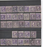 Etats-Unis - Georges WASHINTON, 32 Timbres A Et B, Perçage Publicitaire, Roulettes, Couleur, Centrage - - Used Stamps