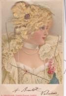 CPA Illustrée Fantaisie Femme Blonde Avec Vrais Cheveux ,a Schwidernoch,deutsch Wagram,austria (lot Pat 111) - Femmes
