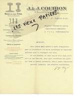 75 - Paris - PARIS-10e - Facture COUTHON - Rail De Tous Types - 1911 - REF 152B - 1900 – 1949