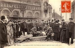263 - PARIS - INNONDATIONS 1910 -  UN POSTE DE SECOURS GARE DE LYON  (XIIeARRT) - Inondations De 1910