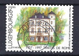 Luxemburg 1997, Nr. 1416, Jahresereignisse 40. Jahrestag Der Unterzeichnung Der Römischen Verträge Gestempelt Luxembourg - Used Stamps