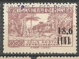 ALGERIE COLIS POSTAUX N° 144  NEUF** Petit Pli D'angle SANS CHARNIERE  / MNH - Pacchi Postali