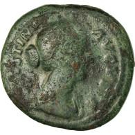Monnaie, Faustina II, As, 161, Roma, TB, Bronze, RIC:1676 - 3. Die Antoninische Dynastie (96 / 192)