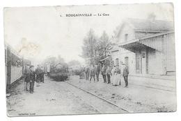 "80  BOUGAINVILLE    ( Somme )   La Gare       "" état "" - Other Municipalities"