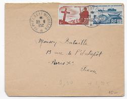 SPM - 1952 - ENVELOPPE Par AVION De SAINT PIERRE ET MIQUELON => PARIS - - St.Pierre & Miquelon