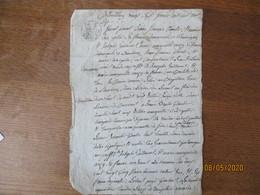 BANCIGNY LE 27 FEVRIER 1806 JEAN FRANCOIS CHARLIER ET MARIE ROSE POTIN SA FEMME ONT VENDU A JOSEPH GUILLOUARD UNE CARTIL - Manuscrits