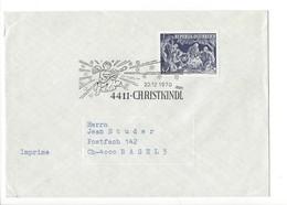 24729- Christkindl 1970 Cover Lettre PourBasel 22.12.1970 - Christmas