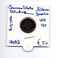 GERMAN STATES OLDENBURG SILBER GROSCHEN 1858B ZILVER - [ 1] …-1871 : Etats Allemands