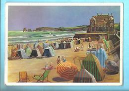 64-----HENDAYE----illustration  Y. TREBLA----le Casino Et La Plage--voir 2 Scans - Hendaye