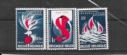 België 1964 Y&T Nr° 1290/92 (**) - Unused Stamps