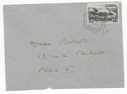 SPM - 1955 - ENVELOPPE De  MIQUELON (CACHET HEXAGONAL !)  => PARIS - St.Pierre & Miquelon