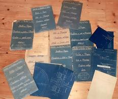 Lot 16 Plans MINES NOYANT ALLIER CHEVALEMENT Mine Puits Messarges 1929 - Machines